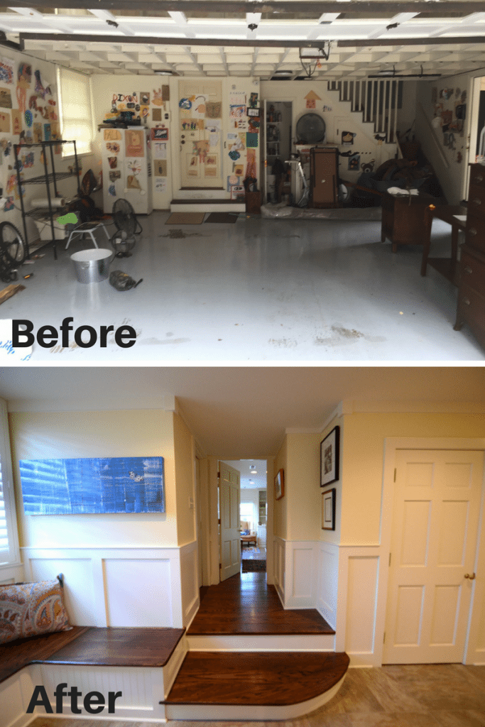 Sequoyah Hills Garage Before and After