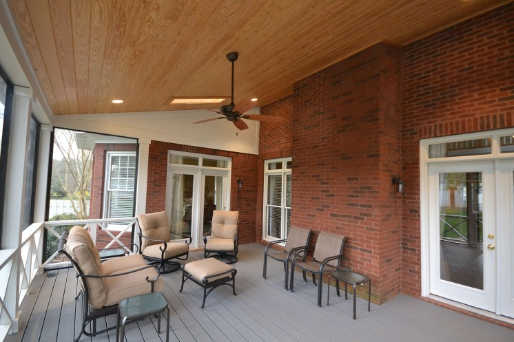 Custom Built Screened Porch In Whittington Creek Enhances Outdoor Living Space