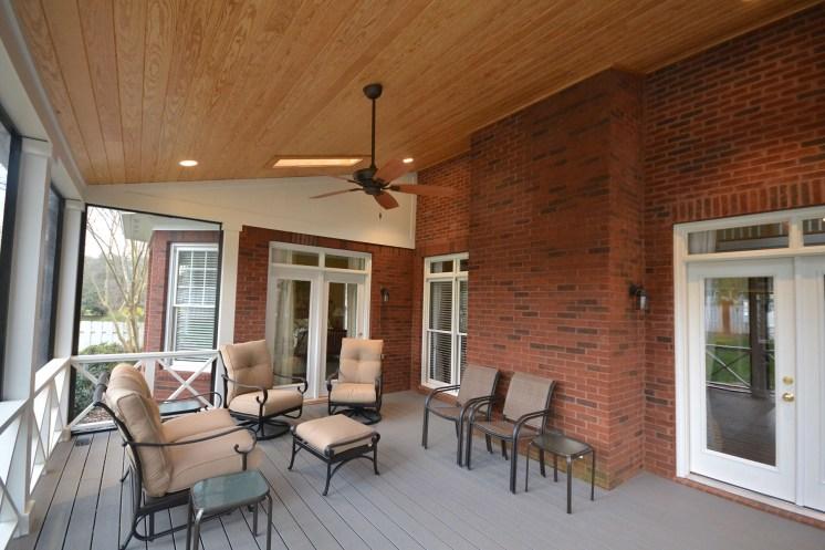 Custom Built Screened Porch In Whittington Creek Enhances Outdoor Living Space