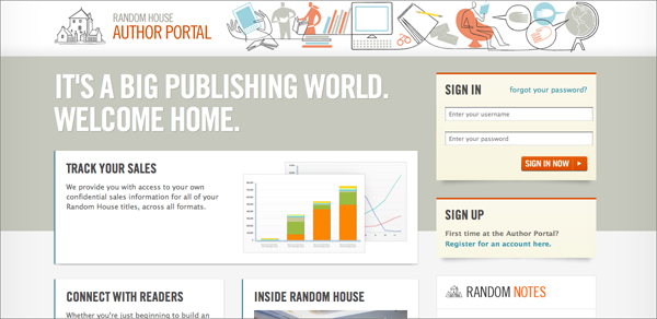 Random House Author Portal