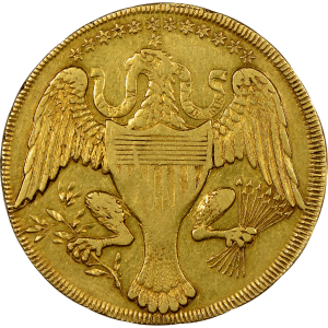 George's Coin - BACK George Washington Pocket Piece