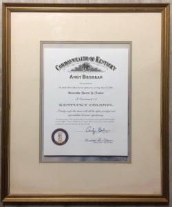 Letters Patent Tucker Kentucky Colonel