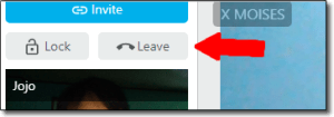 Leave Chat button screen