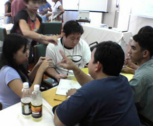 MCCID Students and Faculty were doing group activities related to the seminar.