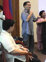 Sir Jojo I. Esposa Jr. interprets during the closing program held at Makati City Hall, November 24.