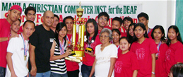 Red Team receives the PGMA trophy.