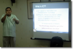Sir Ervin lectures during Philippine School for the Deaf Centennial Celebration 2007.