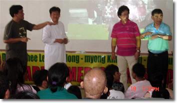 Sir Jojo interprets for Korean doctor