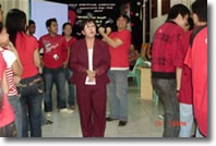 Ms. Veronica Panelo gives instruction to students.