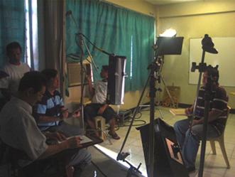 Sir Ervin is being interviewed by Mr. Sano.