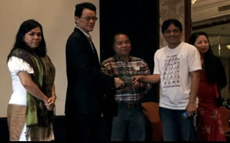 From Left: Ms. Meikah Delid, Mr. Edward Ling, NCDA's Dandy Victa, MCCID's Jojo Esposa and Digital Filipino President Janette Toral
