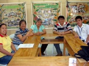 First Meeting at IMMFI, Pampanga (February 15). From Left: Ma'am Melissa Sanchez, IMMFI Secretary; Ma'am Antonita Gomez, IMMFI Program Officer; Ma'am Clarita Magtoto, IMMFI CEO; Sir Jojo and Andrew Calaycay Jr., MCCID Student