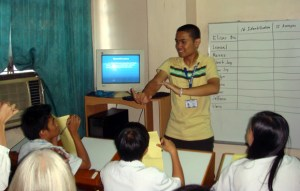 Sir Jerome gets the student's answer from Basic Computer Systems contest.