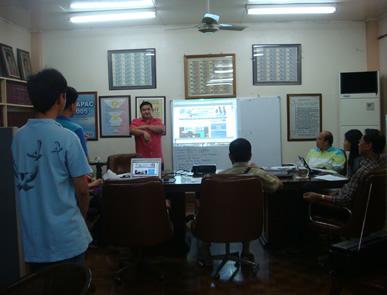 Sir Ervin explains the five website templates he designed.