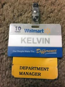 New Department Manager ID of Kelvin