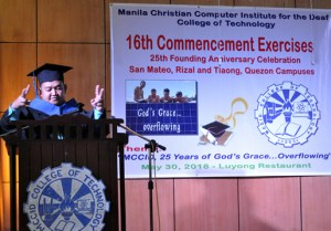 Sir Ervin enumerates the many blessings received for 25 years of MCCID.