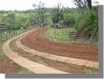 Road going to the school site