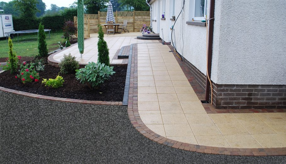 Patio Design Northern Ireland | Mcclelland Landscapes ... on Patio Cover Ideas Uk id=14782