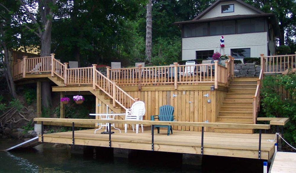 Deck and Railing Design Ideas | Photos and Descriptions on Deck Over Patio Ideas id=13717