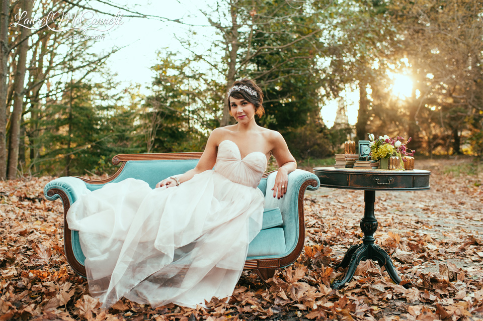 A Surprise Teal Blush Woodland Anniversary Shoot