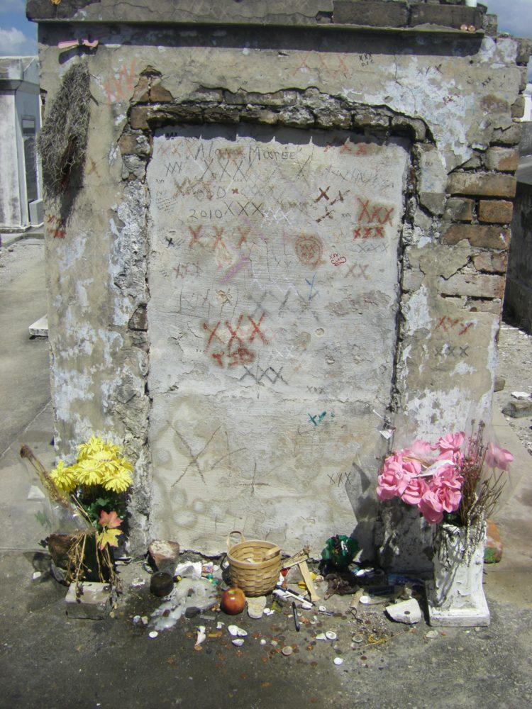 Marie Laveau (Voodoo Queen) grave in New Orleans