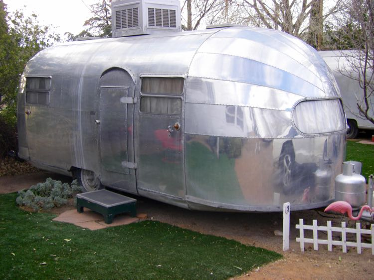 1947 Airstream Trailer at The Shady Dell