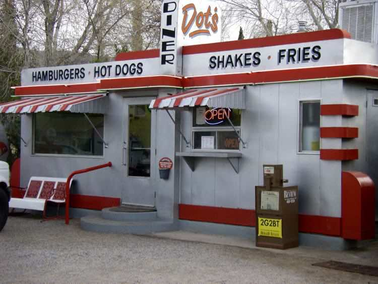vintage Dot's Diner at The Shady Dell