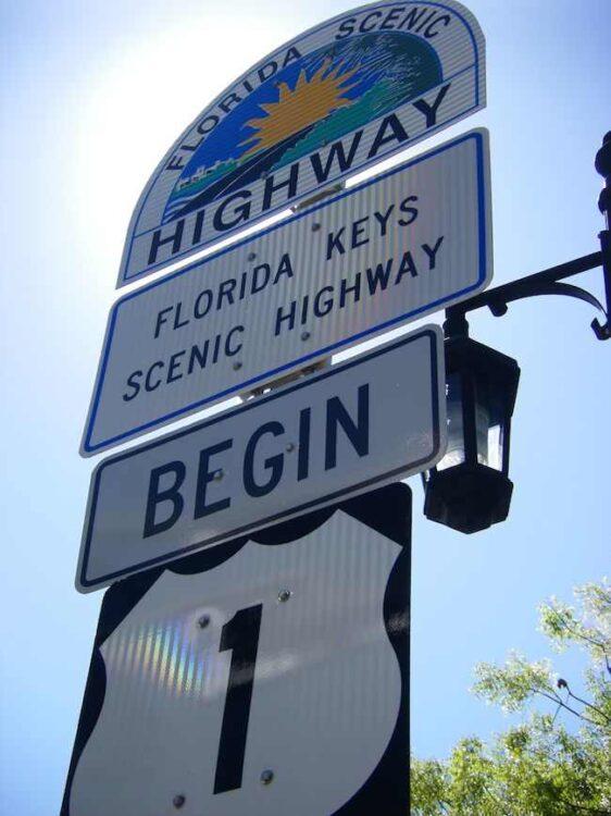 Florida Keys Scenic Highway sign