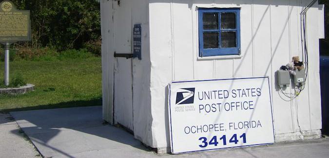 Ochopee Florida post office