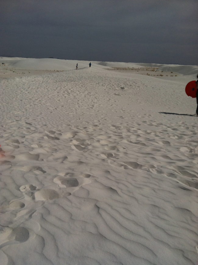 riding saucers is one of the fun things to do in White Sands National Monument