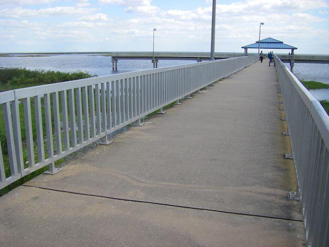 long walkway with a view of Lake Okeechobee