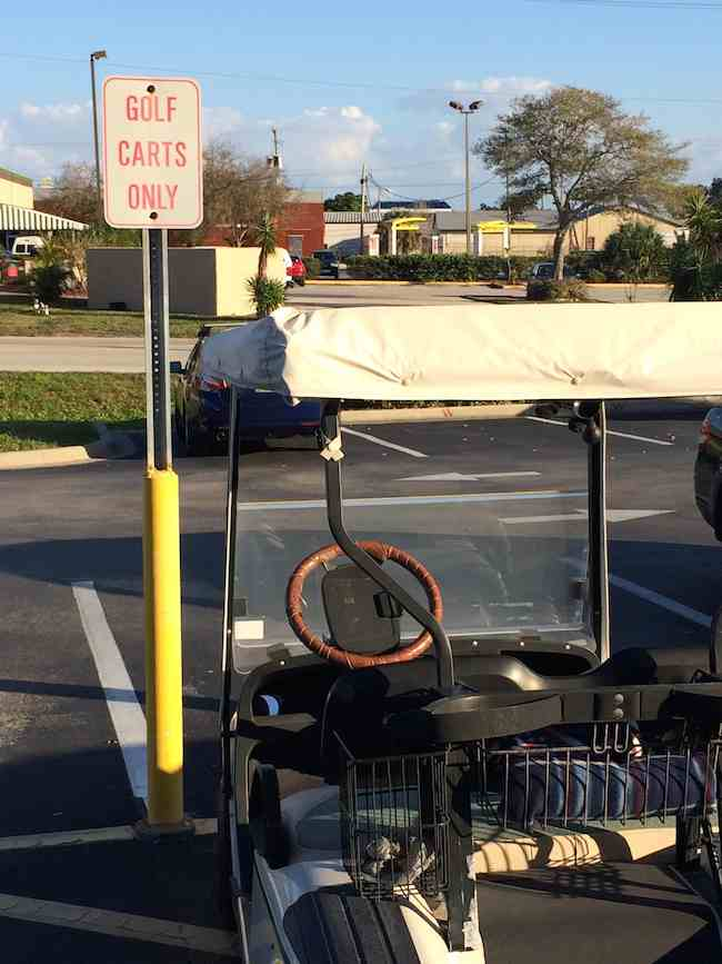Sebring Florida golf cart parking