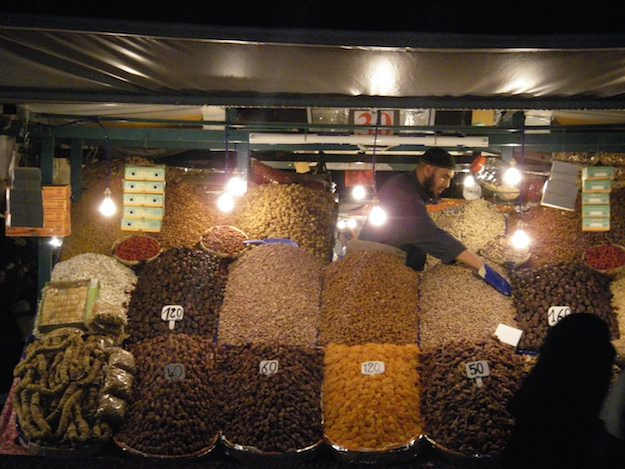 dried fruit in a Marrakech Morocco Market