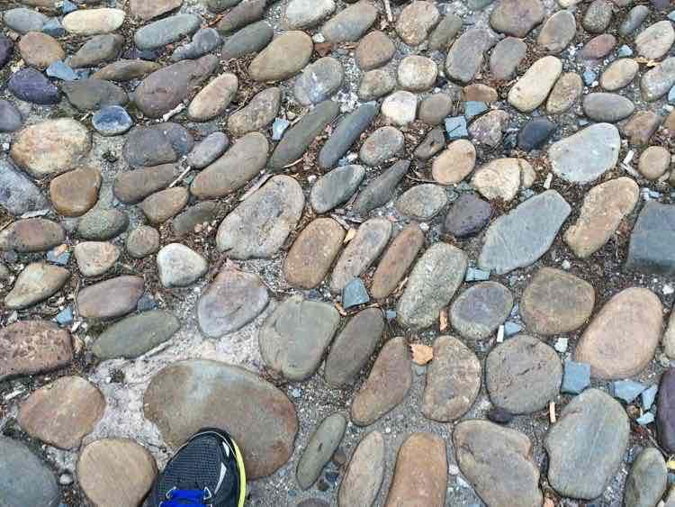 rough cobblestone street in Philadelphia