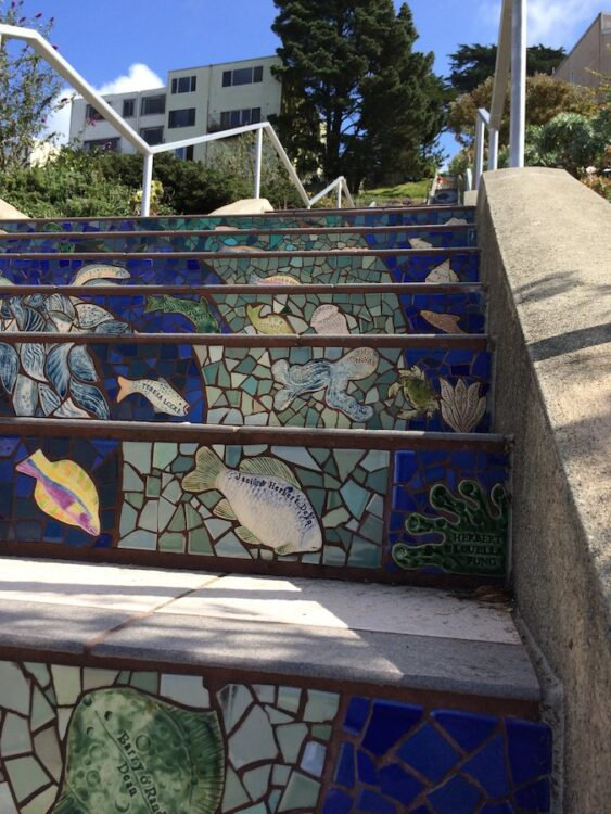 San Francisco Tiled Steps