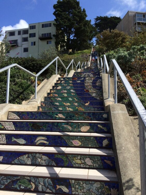 16th Avenue Tiled Steps in San Francisco California