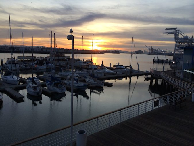 Sunset at Waterfront Hotel, Oakland, California