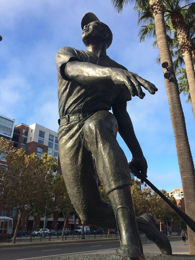 Willie Mays statue in San Francisco