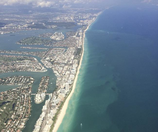 aerial view of Miami Beach, Florida