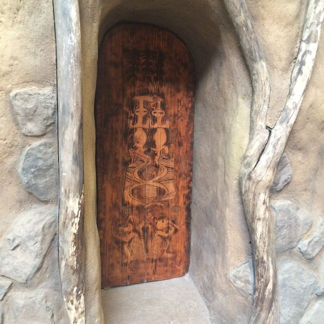 authentic African door at Kalahari Resort