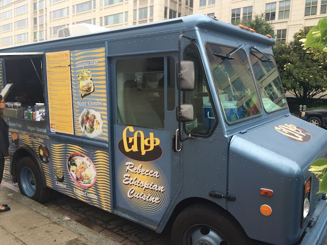 Ethiopian food truck in Washington, D.C.