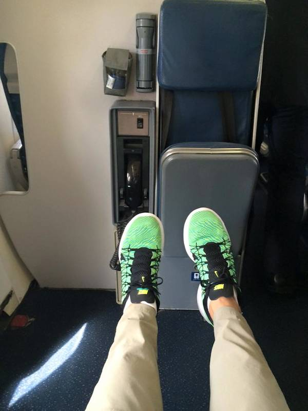 airline seat with maximum leg room