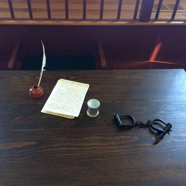 Brentsville Virginia historic court desk
