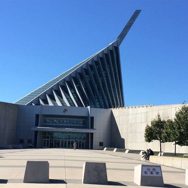 National Museum of the Marine Corps, in Quantico, Virginia. museums in Northeastern US