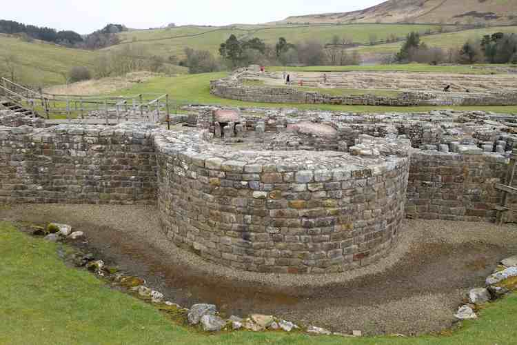 visit the ancient Vindolanda in Northumberland England