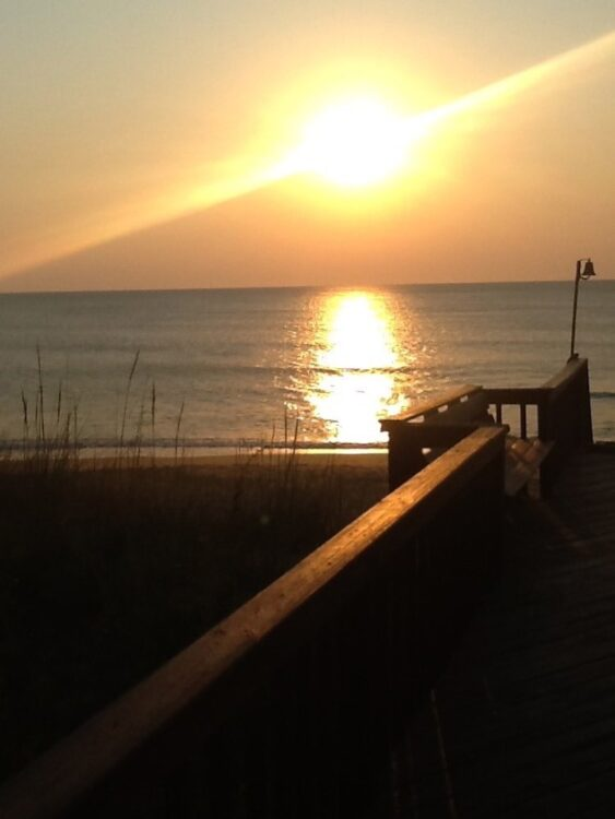sunrise and sunset photos: Duck beach, Outer Banks, North Carolina