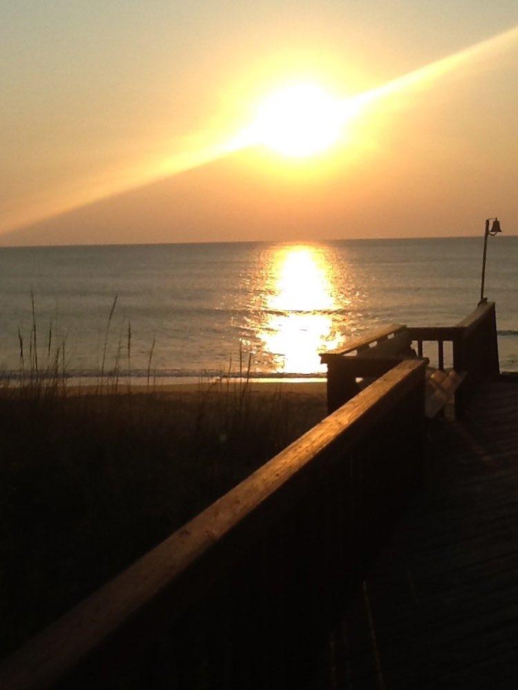 sunrise and sunset photos: Duck beach, Outer Banks, North Carolina