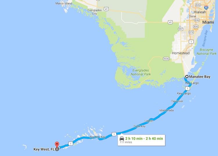 maps of Florida Keys scenic Overseas Highway