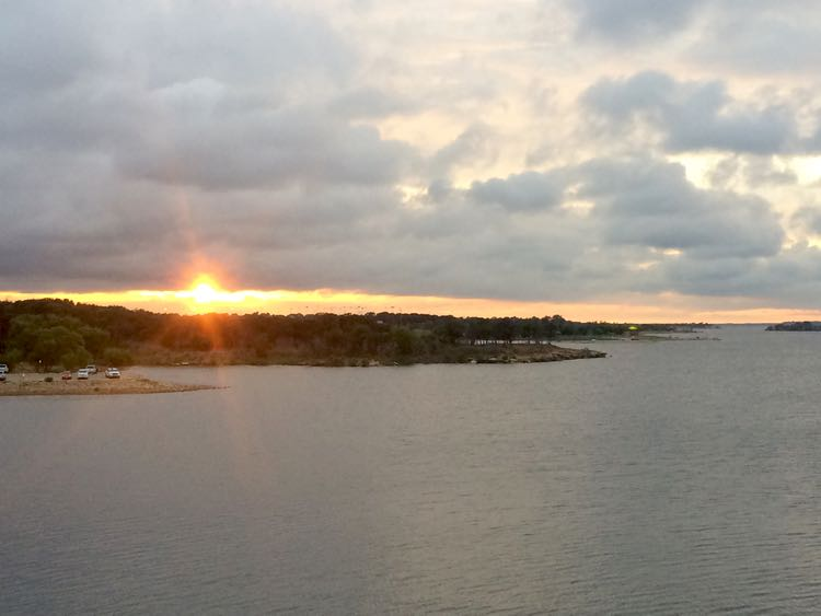 things to do in Grapevine Texas: Lake Grapevine sunset from at Gaylord Texan