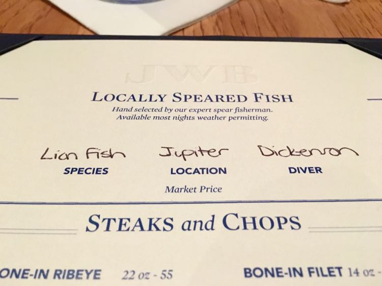 Margaritaville Beach Resort: JWB Restaurant menu